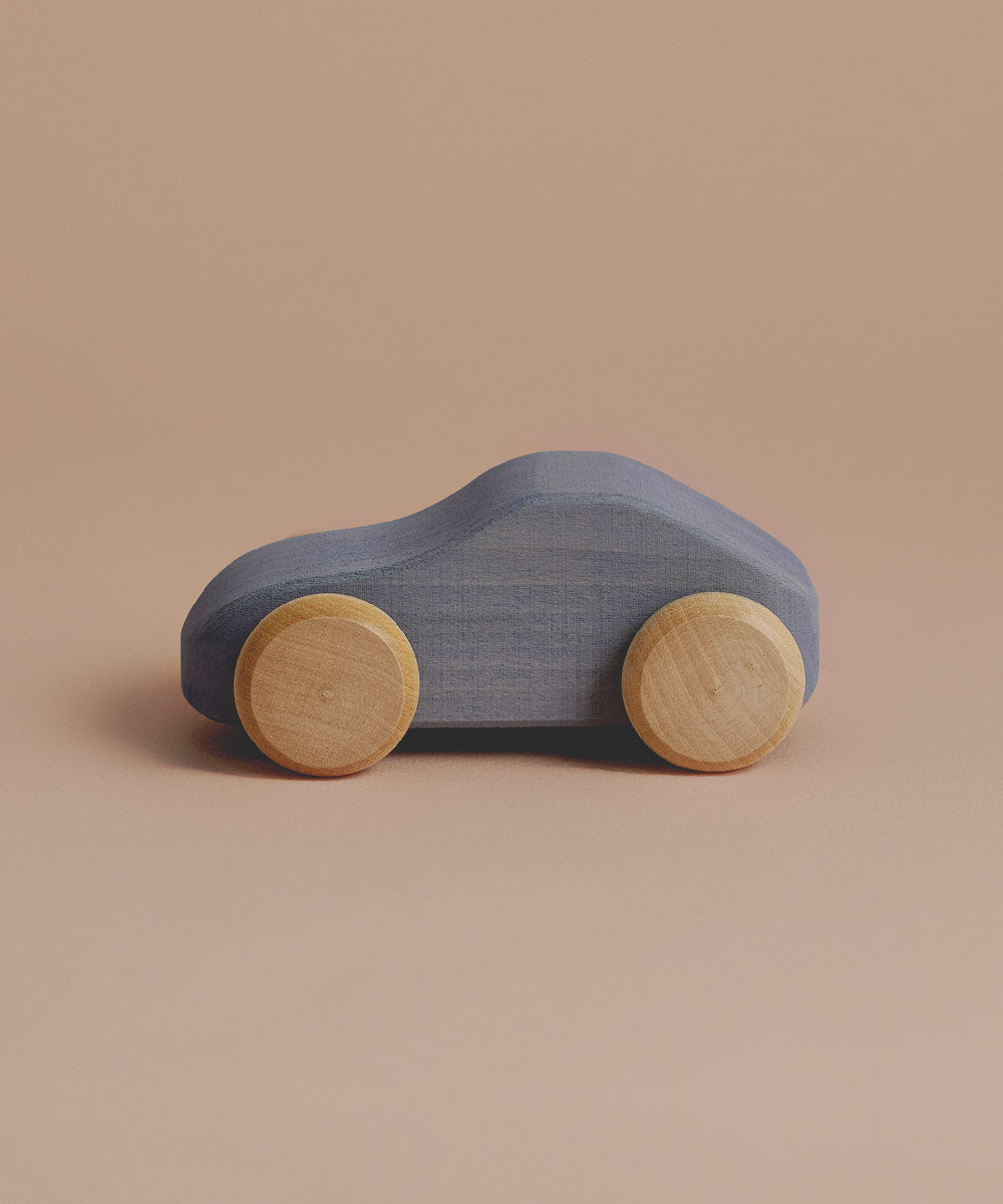 Wooden Coupe in Silver Grey