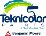 teknicolor paints and benjamin moore logos