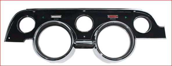 1967 Instrument Bezel  Black and Crome