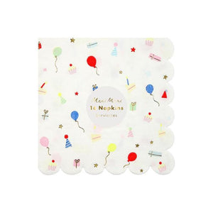Meri Meri - Party Icons Scalloped Napkin Small