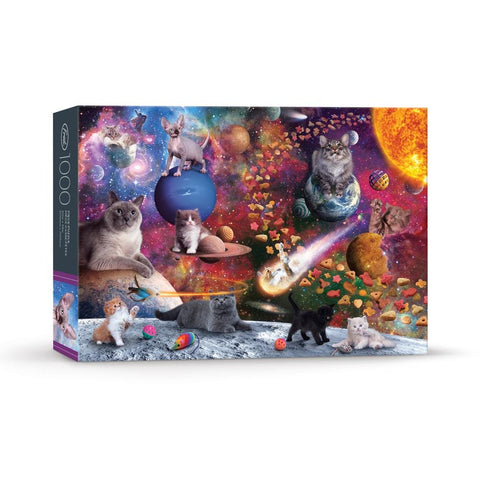 1000 Piece Puzzle Galaxy Cats
