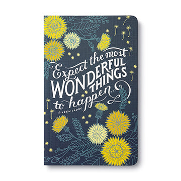 Write Now Journal Expect The Most Wonderful Things To Happen... - Eileen Caddy