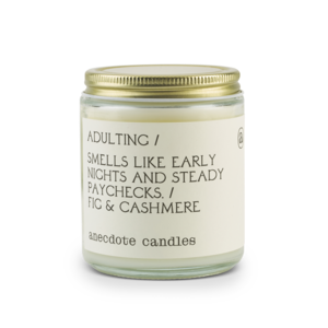 Anecdote Jar Candle - Adulting