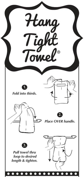 Twisted Wares Flour Sack Hang-Tight Towel - Shut Up Liver You're Fine Black