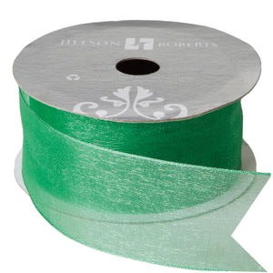 Solid Sheer Ribbon Green