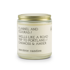 Anecdote Jar Candle - Flannel & Fedoras