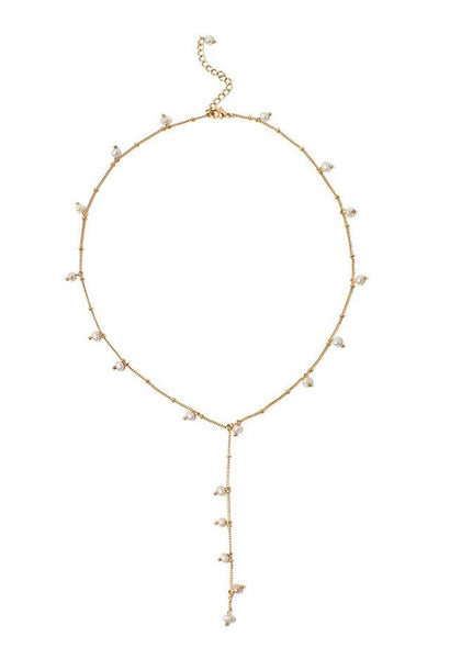 Lover's Tempo Necklace Dot Pearl Lariat