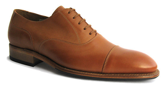 Men's Goodyear Welted Toe Cap Oxford Honey Tan