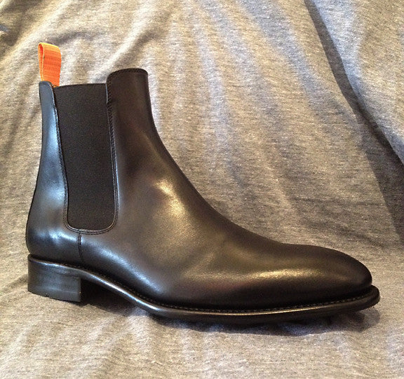 Men's Goodyear Welted Black Chelsea Boot