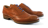 Men's Goodyear Welted Wingtip Brogue Cognac