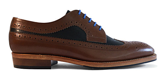 Men's Goodyear Welted Wingtip Balmoral Two-Tone
