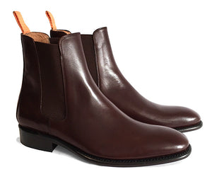 Men's Goodyear Welted Chelsea Boot Chocolate Brown
