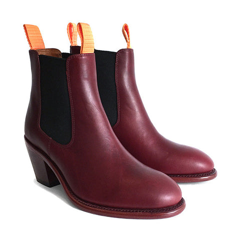 Women's Goodyear Welted Chelsea Boot Burgundy