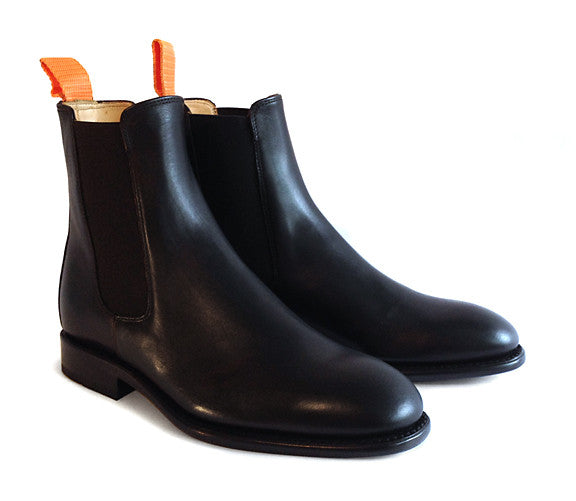Women's Goodyear Welted Chelsea Boot Black