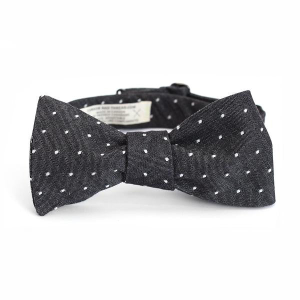 Accessories - Bow Tie - Chambray Polka Dot