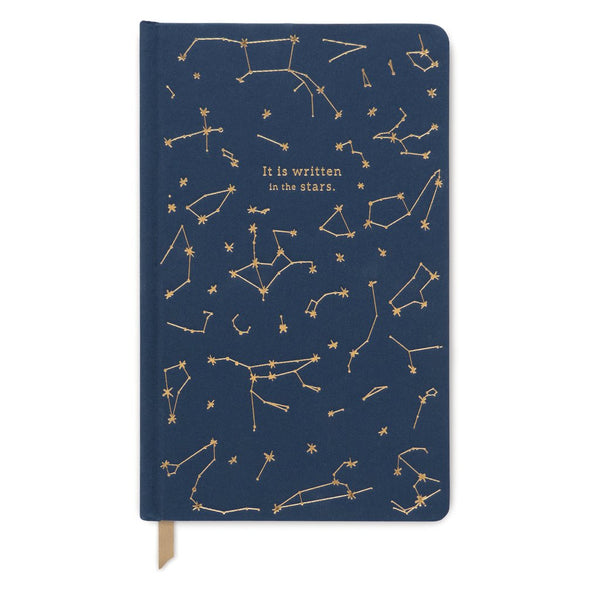 DesignWorks Navy Book Cloth Constellations