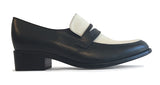 Women's Veneto Penny Loafer Black & White