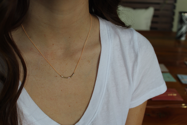 Lucky Feather Morse Code Necklace - BFF