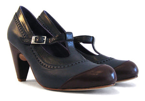 Women's MV7 T-Strap Blue and Brown