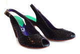 Women's MV6 Slingback Peep-toe Black