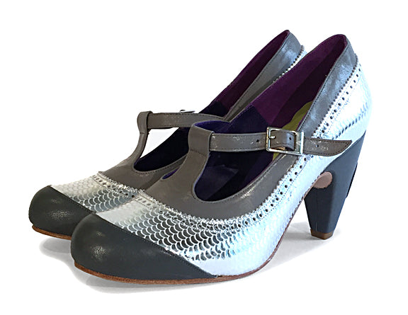 Women's MV7 T-Strap Silver and Grey
