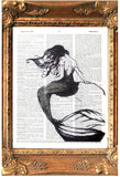 ArtnWordz Print - Mermaid Back