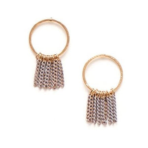 Lover's Tempo Earrings Olympia Fringe Hoop - Grey