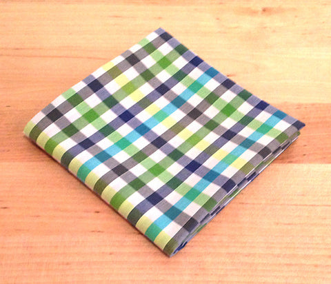 baa991845022d Accessories - Pocket Square - Green, Blue Plaid
