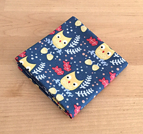 Accessories - Pocket Square - Blue Owls