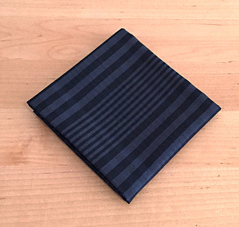Accessories - Pocket Square - Black and Blue Plaid
