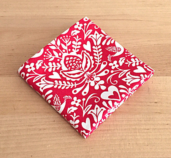 Accessories - Pocket Square - Red Damask
