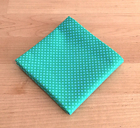 9fa3d79680863 Accessories - Pocket Square - Green on Green Diamond Pattern