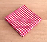 Accessories - Pocket Square - Red Gingham