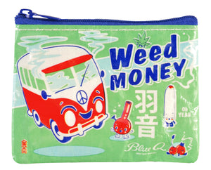 Blue Q Coin Purse Weed Money
