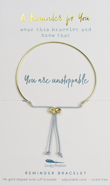 Lucky Feather Reminder Bracelet - Unstoppable