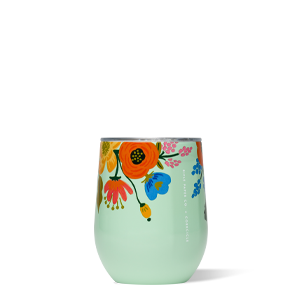 Corkcicle Rifle Paper Co. Stemless 12oz Gloss Mint Lively Floral