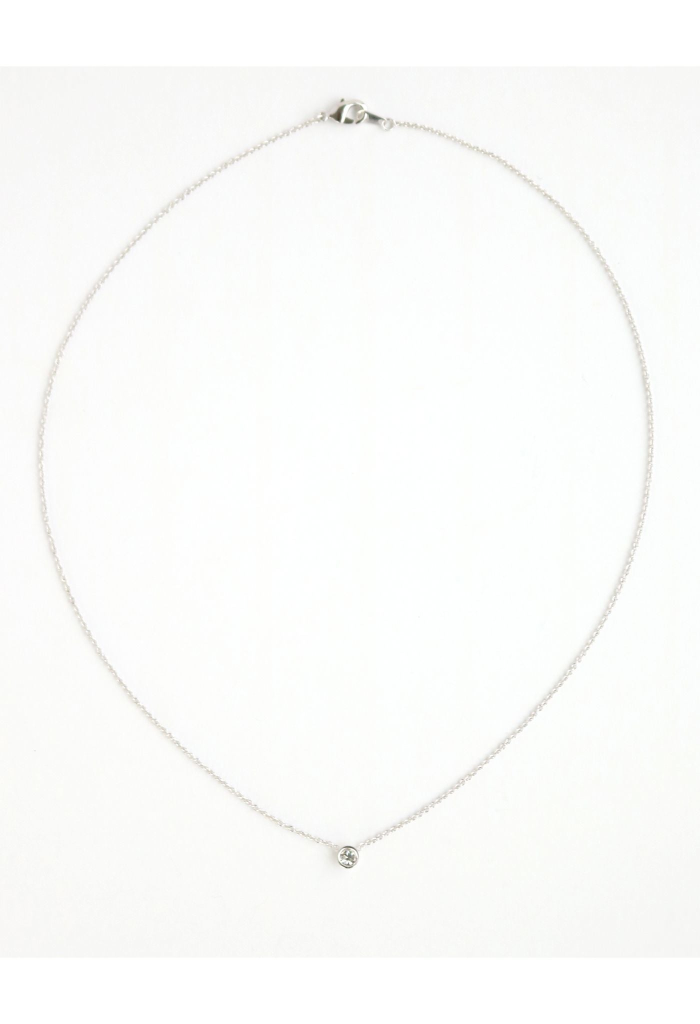 Lover's Tempo Necklace Solitaire - Silver
