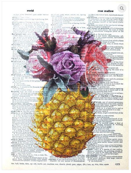 ArtnWordz Print - Rose Pineapple