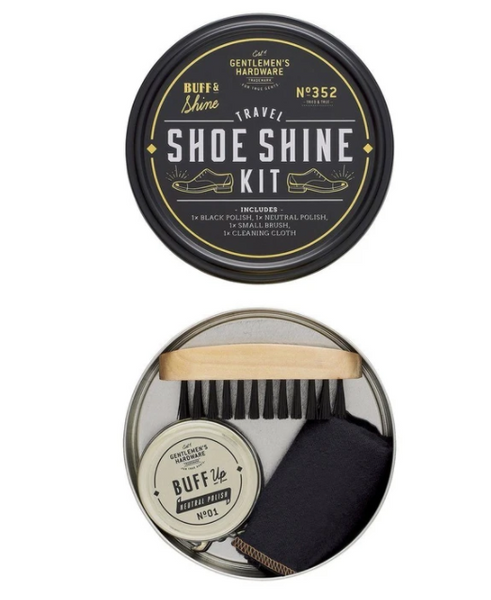 Gentleman's Hardware Travel Shoe Shine Tin