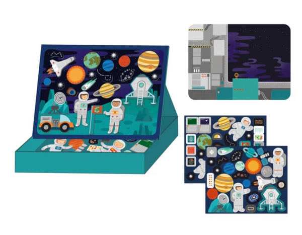 Petit Collage - Magnetic Play Scene Outer Space