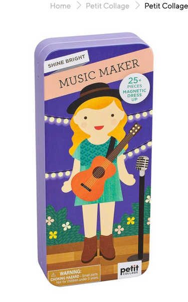Petit Collage Shine Bright - Magnetic Dress-Up Music Maker