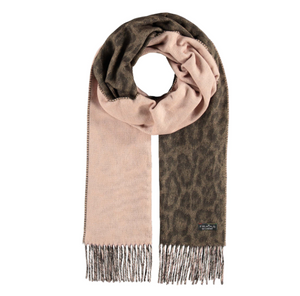 Fraas Woven Cashmink Scarf Two Tone Leo
