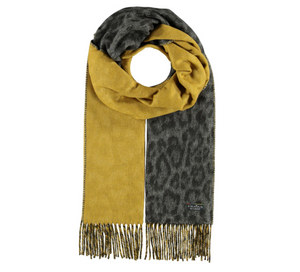 Fraas Woven Cashmink Scarf Two Tone Leo Mid Grey