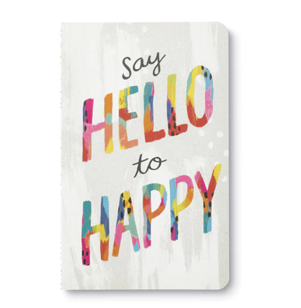 Write Now Journal Say Hello to Happy