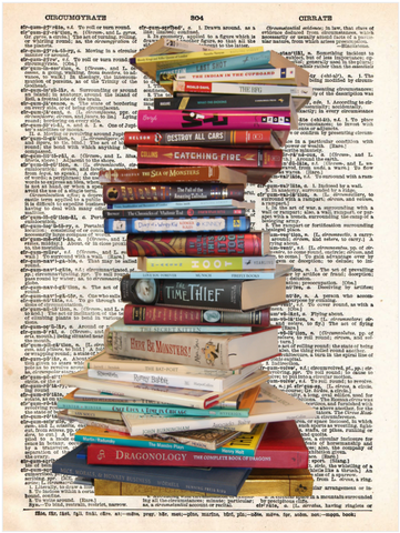 ArtnWordz Print - Stacked Books