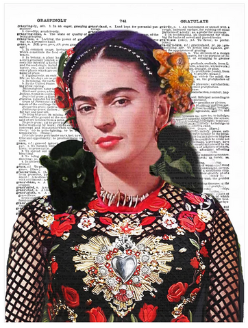 ArtnWordz Print - Frida in Between (Nature)