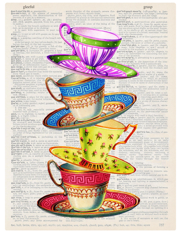 ArtnWordz Print - Stacked Tea Cups