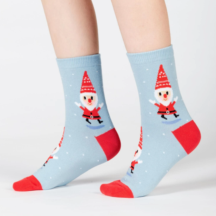 Sock It To Me - Youth Crew Socks Santa Gnomes
