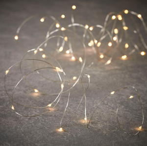 Luca Silver String LED 30 Light Warm White 9'
