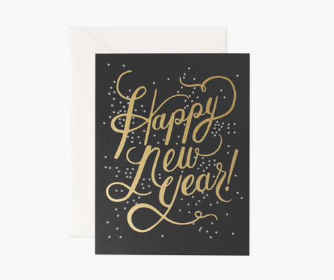Rifle Paper New Years Card Shimmering New Year